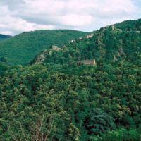 Ruines de Saint-Sauveur et le village d'Haupoul, vues du Plo de Bise