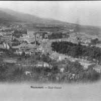 Carte postale : Mazamet. Usine avec cheminée : Gau-Bosc