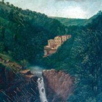 Reproduction d'un tableau vers 1895 : l'usine sur le Linoubre