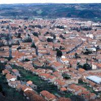 Vues de Mazamet depuis le Plo de la Bise : vue générale, enfilade du château de la Sagne