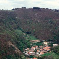 Castaunouze, vue aérienne depuis Hautpoul