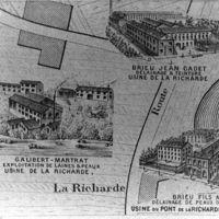 Carte 1896 : La Richarde, les trois usines