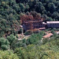 L'usine après incendie: vue du Plo de la Bise