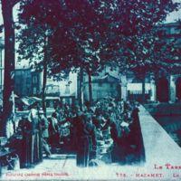 Carte postale de Mazamet : mairie et marché