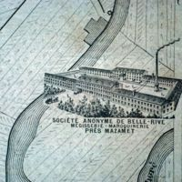 Carte 1896 : société anonyme de Belle-Rive, mégisserie - maroquinerie, près Mazamet