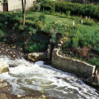 Emplacement de l'usine : nains de jardins (et restes du barrage)