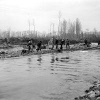 Le Moulin Gau, inondations de 1930 : travail sur le Thoré