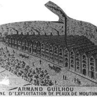 Carte 1896 : Usine Armand Guilhou, usine d'exploitation de peaux de moutons
