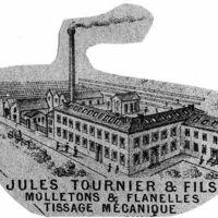 Carte 1896 : Jules Tournier et Fils, molletons et flanelles, tissage mécanique