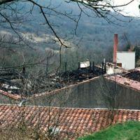 L'usine après incendie: les toits
