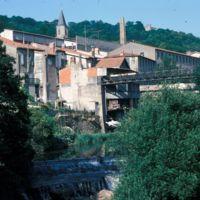 Moulin Haut et barrage du Moulin Bas vue depuis l'Arn