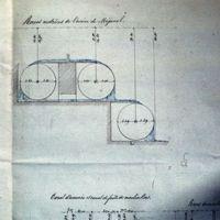 Schéma des roues de l'usine de Méjanel