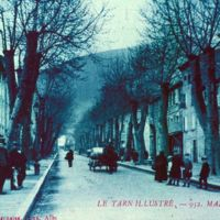 Carte postale de Mazamet : boulevard Soult (bleu)