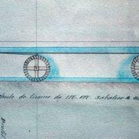 Plan : roues du foulon d'Enjanet