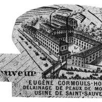 Photographie d'un détail d'une carte de 1896 en collection privée