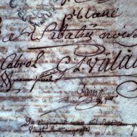 Signatures, jurande des fabricants : gros plan sur la signature de Valade