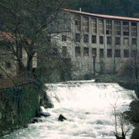 Vue générale de l'usine: de l'aval vers l'amont