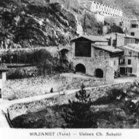 Carte postale : Sabatié (en haut); usine Galibert-Martrat ou les Ajustants (en bas)