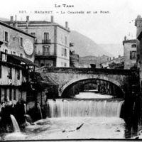 Carte postale : Mazamet : la Chaussée et le Pont Central