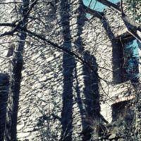 Ruines du Fustié : détail d'un pan de mur