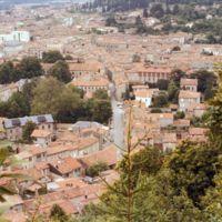 Vues de Mazamet depuis le Plo de la Bise : quartier Lacapelle, au téléobjectif
