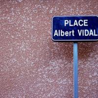 Panneau de la place Albert Vidal