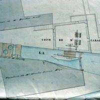 Plan du lavoir et teinturerie Houlès, et foulon de l'Horte