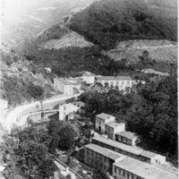 Carte postale : route des usines : Le Peigne d'Or, le Pont de l'Oule (de bas en haut)