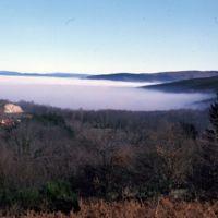 Au-dessus du brouillard, route de Carcassonne
