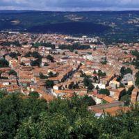 Vues de Mazamet depuis le Plo de la Bise : vue générale sans téléobjectif