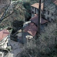 Vue d'en haut, bâtiments et cheminée