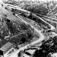 Carte postale: route des usines, le Linoubre et l'Arnette